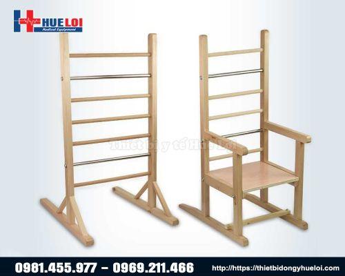 Ghế chỉnh dáng ngồi và khung thang chỉnh dáng đứng, tập thăng bằng cho trẻ em