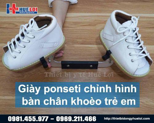 Giày ponseti chỉnh hình bàn chân khoèo trẻ em