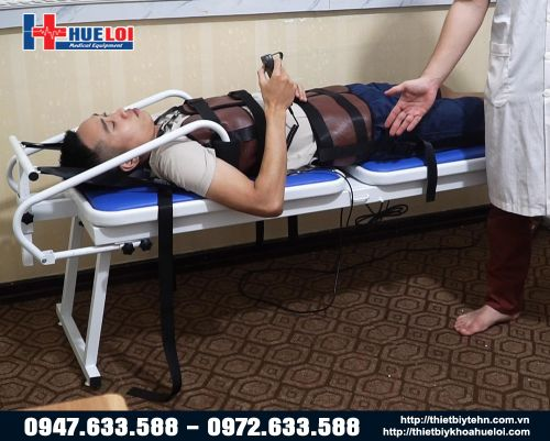 Giường kéo giãn cột sống bằng điện loại đơn giản