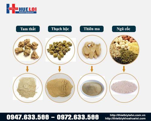 Máy nghiền dược liệu Đông y thành bột mịn