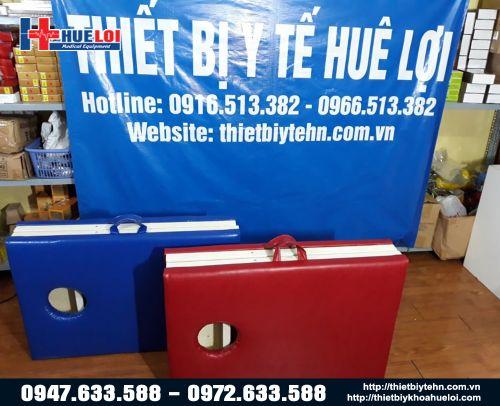 Giường xoa bóp bấm huyệt  6 chân dạng vali HL6