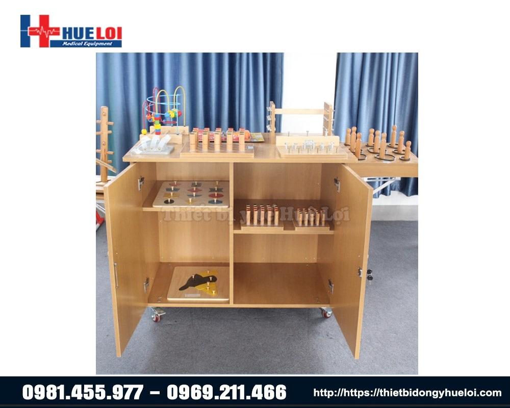 bàn gỗ hỗ trợ tập tay cho người tai biến