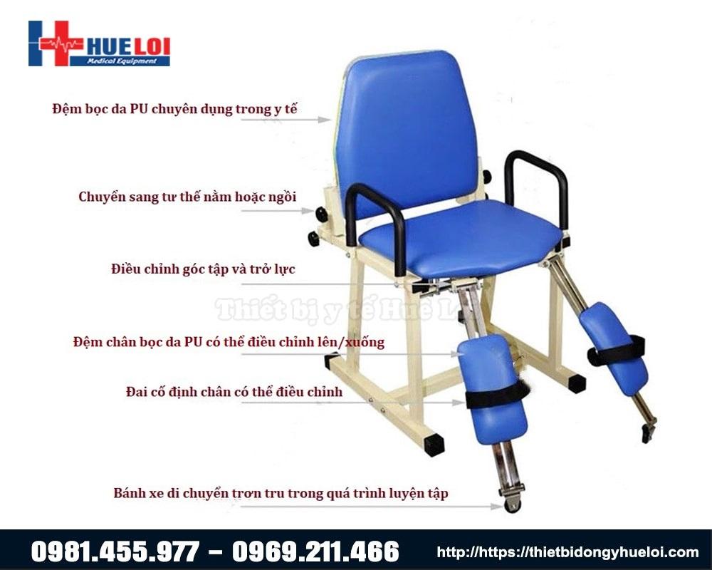 Tác dụng cấu tạo các bộ phận của ghế tập khớp háng