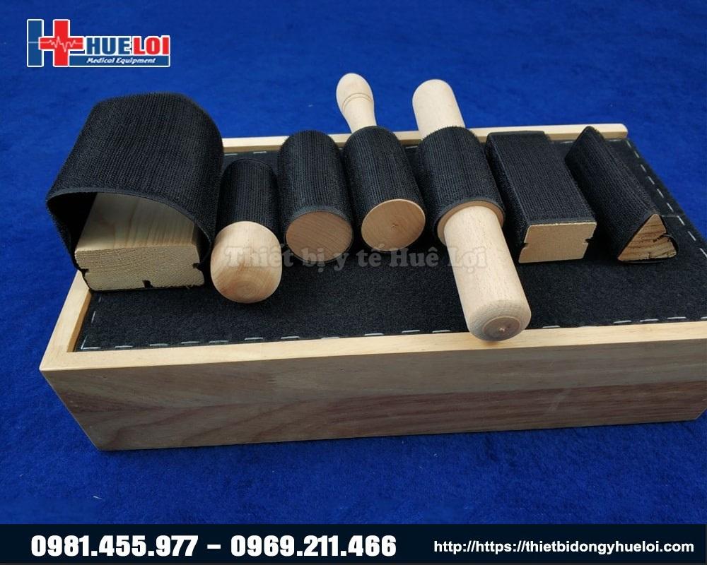 các bộ phận của hộp gỗ phục hồi chức năng cổ tay