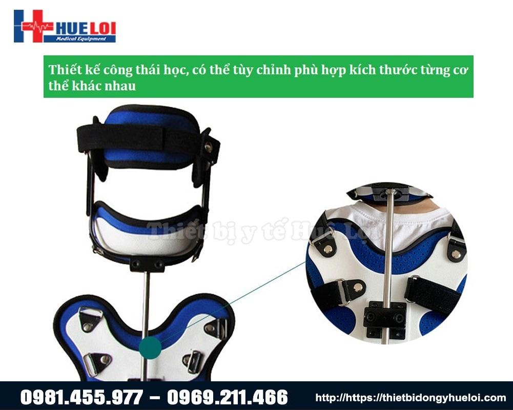 thiết kế đai nẹp phù hợp với các kích thước cơ thể