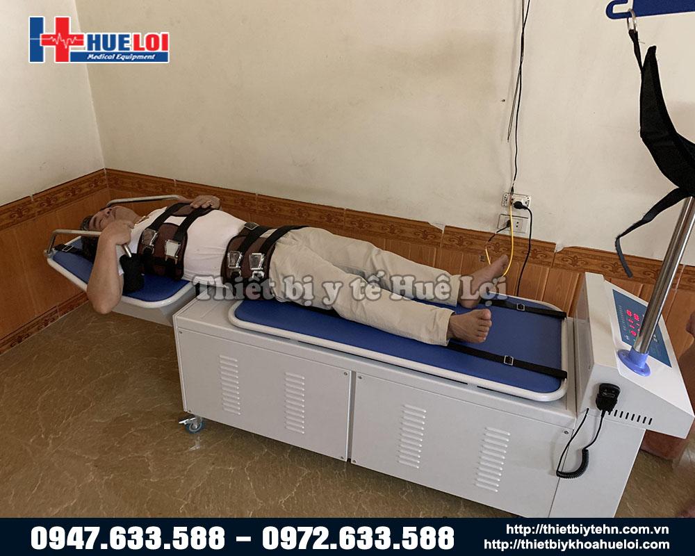 giường điện kéo giãn lưng cổ cao cấp