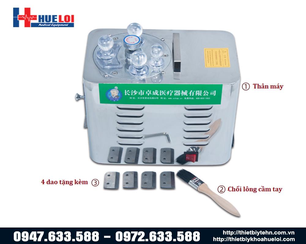các bộ phận của máy thái thuốc đông y