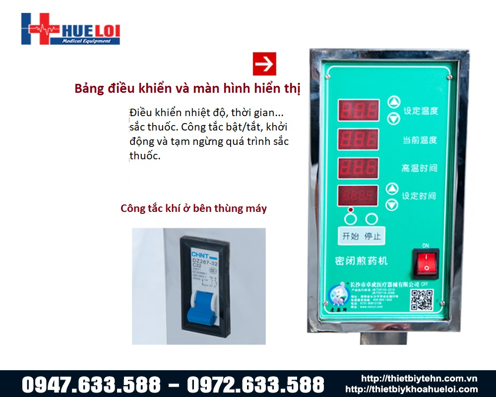 máy sắc thuốc áp suất cao tự động